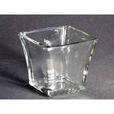 "3"" Square Votive Holder box of 12"