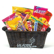 Basket of KitKat, M & Ms, Oh Henry, and More