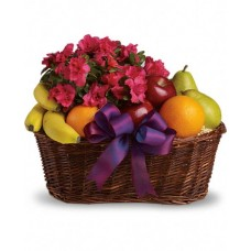 Flowering Plants & Fruit Basket