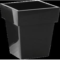 Black Finish Metal Container