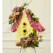 Bird House Sympathy Standing Spray