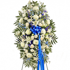 Blue and White Sympathy Spray