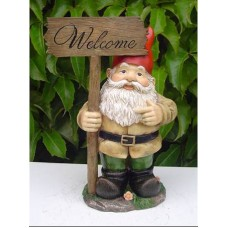 Gnome Welcome Sign