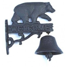 Cast Iron Black Bear Door Bell