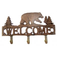 Cast Iron Bear Hook W/Welcome