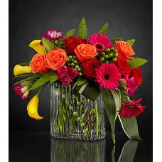 Color Intensity Luxury Bouquet - VASE INCLUDED