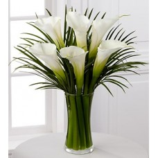 Endless Elegance Calla Lily Bouquet - 8 Stems - VASE INCLUDED