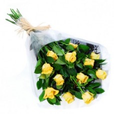 12 Stem Yellow Rose Bouquet