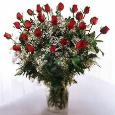 3 Dozen Red Roses with FREE Vase