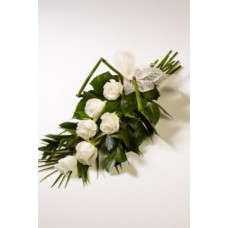 6 Stem White Rose Bouquet