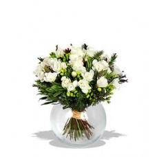 Freesias Flowers In Free Vase