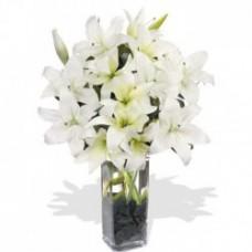 Oriental Lilies Vase Arrangement