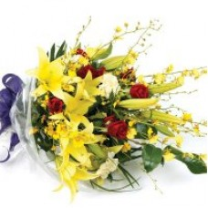 Hand Tied Bouquet - Oncidium Orchid