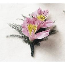 Alstroemeria Blossoms Boutonniere