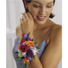 Colourful Wrist Corsage