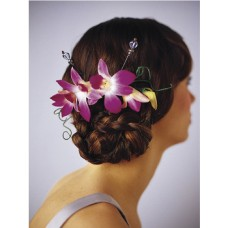 Elegant Orchid Flowers Headpiece