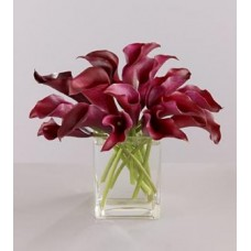Red Calla Lilies with FREE Vase