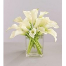 White Calla Lily with FREE Vase