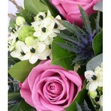 Hand Tied Bouquet - Pink Roses