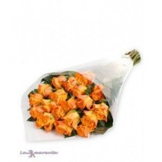 21 Stem Orange Rose Bouquet