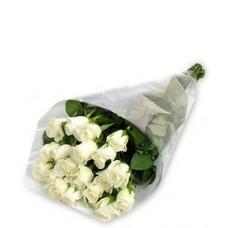 21 Stem White Rose Bouquet