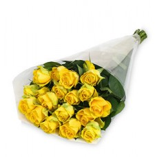 21 Stem Yellow Rose Bouquet