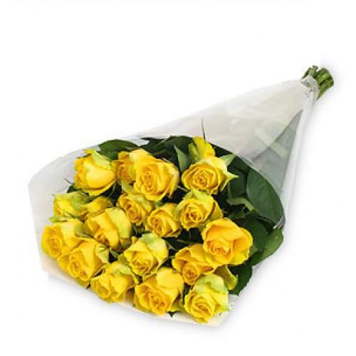 21 Stem Yellow Rose Bouquet