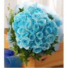 4 Dozen Blue Roses - Bouquet