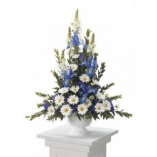 Blue and White - Tribute Flowers