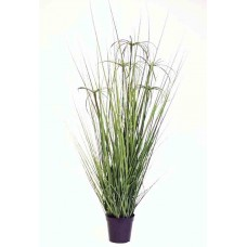 "42"" Grass Pot - Artificial"