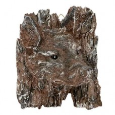 Brown Wolf Wall Plaque
