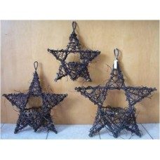 Large Black Vine Hanging Star Basket