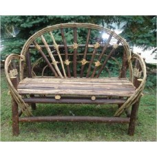 Brown Twig Sunrise Design Adult Love Seat