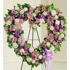 Artistic Heart Wreath By Florist