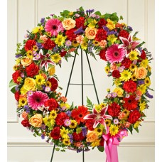 Beautiful Sympathy Blooms Wreath