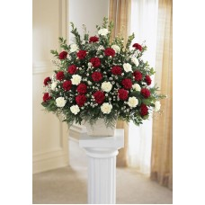 Carnation Spray Sympathy Arrangement