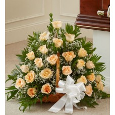 Colorful Condolences -Pretty and Peachy Arrangement