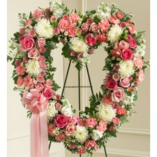 Express Sympathy - Pinkish Heart Flowers