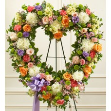 Express your sympathy  - Heart Flowers