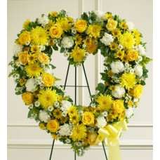 Express your sympathy  - Sunny Heart Wreath