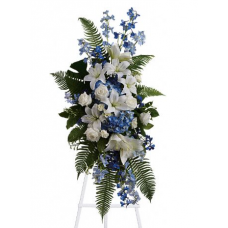 Condolences Flowers of Blue Standing Spray