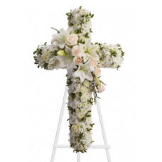 All-White Funeral Cross