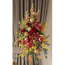 Condolences Flowers - Autumn Standing Spray