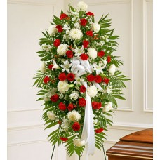 Condolences Flowers - Carnation and More Standing Spray