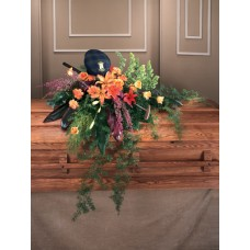 Colorful Condolences - Splash Casket Spray