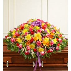 Cheerful Bliss Casket Spray