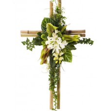 Memorial Cross Cymbidium and Bamboo