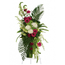 Exotic Greens Standing Spray - Condolences Flowers