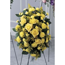 Condolences Flowers - Gold Standing Spray