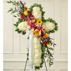 Luxurious Catholic Cross Funeral Flowers